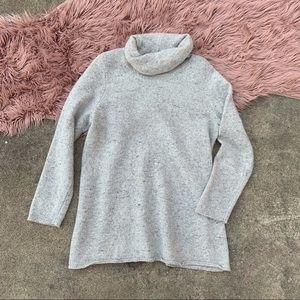 J. Jill heather grey turtleneck sweater large